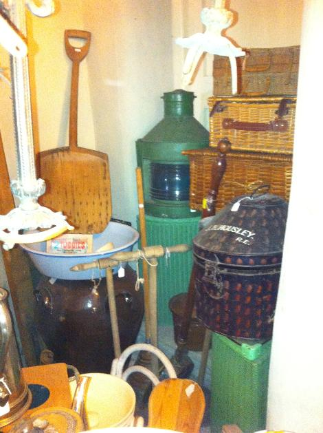 kitchenaila  vintage glass spirit bottles  stone preserve jars  vintage soda syphon  antique